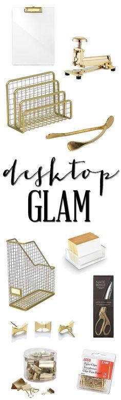 Glamorous desk accessories // brittanyMakes