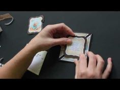 Triangle Tri-Fold Card Tutorial Video by Beate Johns at Splitcoaststampers using Seaside Clear Art Stamps by Crafty Secrets