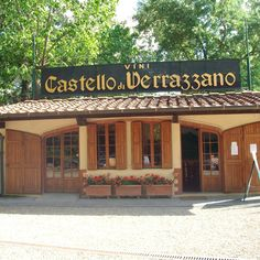 Greve in Chianti, Italy.  Best wine in Chianti as far as I'm concerned.