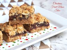 Easy Christmas Fruit Mince Slice The Annoyed Thyroid Christmas Desserts Easy, Xmas Food, Christmas Cooking, Tray Bake Recipes, Baking Recipes, Snack Recipes, Cookie Recipes, Easy Christmas Treats, Christmas Goodies