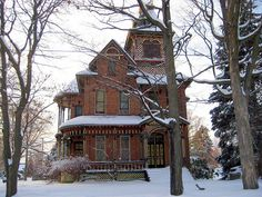 Beautiful Tower House Another big old Victorian house in St. Louis, Michigan. This one is just two blocks down the street from the first St. Louis house I posted.