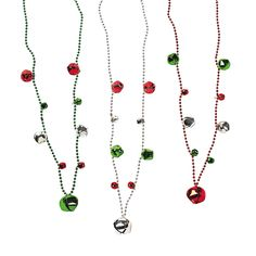 Jingle Bell Beaded Necklaces - OrientalTrading.com