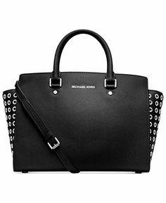 MICHAEL Michael Kors Handbag, Selma Grommet Satchel - Handbags & Accessories - Macy's