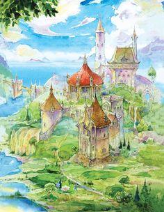 Cair Paravel Fan Artwork Of Narnia! Fantasy World, Fantasy Art, Watercolor Illustration, Watercolor Paintings, Watercolors, Chronicles Of Narnia Books, Cair Paravel, Beautiful Castles, Beautiful Places