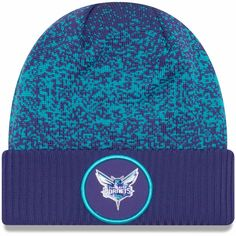 f9b94956d5b Charlotte Hornets New Era Youth 2018 Draft Cuffed Knit Hat With Pom ...