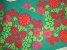 Retro Swedish fabric - stof/bordløber - 70s.  #retro #fabric #1970s. From www.TRENDYenser.com. SOLGT.