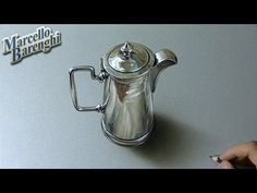 Drawing Time Lapse: silver pitcher - hyperrealistic art - YouTube