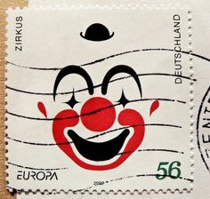 Clown Zirkus stamp Germany 56c Allemange postes timbres francobollo Germany postage 56c EUROPA selos Alemanha Deutschland Briefmarke by stampolina, via Flickr