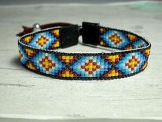 Indian Geometric Pattern Bead Loom Bracelet by BeadWorkBySmileyKit $20.00 by jodi