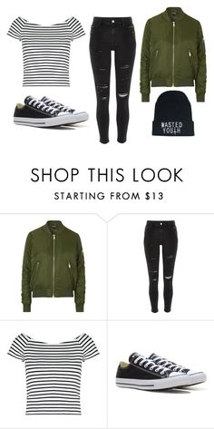 """Untitled #71"" by marija-jozic on Polyvore featuring Topshop, River Island, Lipsy and Converse"