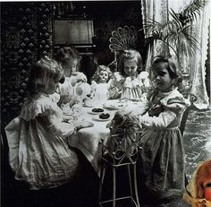 dolls tea party. some things don't change
