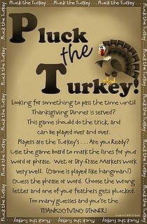I LOVE this site. Now she's got fun Thanksgiving games and ideas to make. Free templates and PDF's. (Pluck The Turkey = Hangman) Fun Thanksgiving Games, Holiday Games, Thanksgiving Traditions, Holiday Fun, Holiday Ideas, Thanksgiving Turkey, Thanksgiving Decorations, Thanksgiving Posters, Holiday Parties