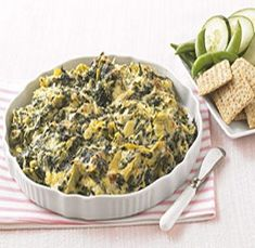 WW Artichoke-Spinach Appetizer-This is a Weight Watchers 2 PointsPlus+, 22 servings recipe.