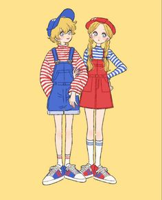 Character Art, Character Design, Cartoon Outfits, Drawing Expressions, Kawaii, Korean Outfits, Korean Clothes, Cool Hair Color, Art Reference Poses