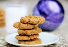 healthier peanut butter cookies with whole wheat flour and applesauce - no eggs, no butter!