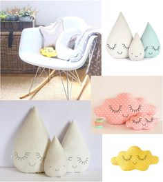 www.lescoolpetites.com  Decoration Bel and Soph + Zü Pillows. Rocking Chair.