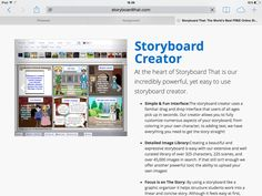 Storyboardthat is a very useful tool to create and edit storyboards for your class