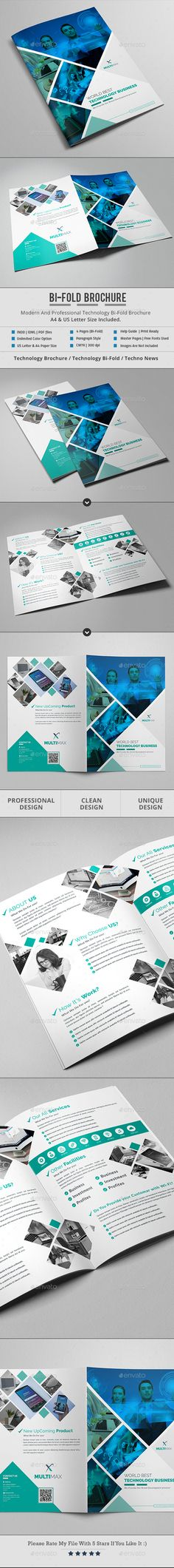 Technology Bifold Brochure Template InDesign INDD