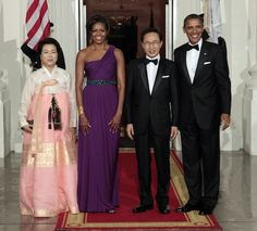 My First Lady Michelle and her state dinner dress.  Whoever dresses her must have fun she always looks amazing!!!!