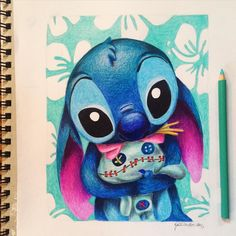 》Featuring The Amazing: @kristina_illustrations ┄┄┄┄┄┄┄┄┄┄┄┄┄┄┄┄┄┄┄┄┄┄┄┄┄┄┄ Stitch and Scrump  Hope everyone has a lovely tuesday ~ ✰Follow @kristina_illustrations on Instagram for more awesomeness like this!