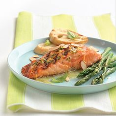 Grilled Salmon with Orange Basil Butter