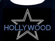 Hollywood RHINESTONE TShirt or Tank Top  S M L XL by RhineDesigns, $19.95