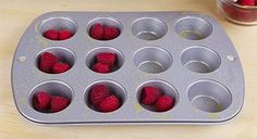 How to make berry banana muffins using only three ingredients Whether you are looking for a healthy(er) recipe that's also kid friendly or you have a craving for something sweet late at night, this easy recipe, Healthy Desserts, Healthy Cooking, Appetizer Recipes, Dessert Recipes, Dessert Ideas, Appetizers, Diet Recipes, Cooking Recipes, Easy Recipes