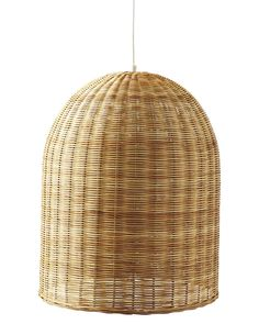 HighLow A Trio of Woven Wicker Pendant Lights  Large 39 and