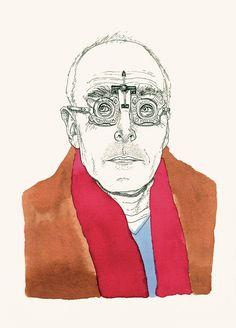 Adam Cruft portrait illustration
