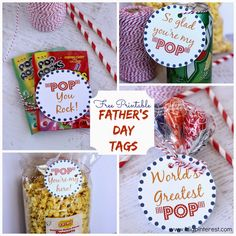 "Father's Day ""POP"" {Free Printables}.  Use these fun tags in a variety of ways to show Dad or Grandpa some love!"