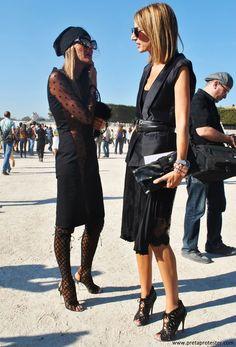 fashionable friends. AdR & #SarahRutson in Paris. #AnnaDelloRusso