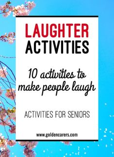 Instilling a culture of humor and laughter into long-term care facilities is good for everyone and may even improve the overall functioning and well-being of your clients. It is important to incorporate funny and amusing activities into your regular progr Assisted Living Activities, Nursing Home Activities, Cognitive Activities, Alzheimers Activities, Wellness Activities, Physical Activities, Activities For Dementia Patients, Dementia Crafts, Group Activities For Adults