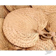 Handmade Raffia Fans BULK (12 pieces) BEST SELLER! Great for an outdoor or summer wedding! Give as guest favors.