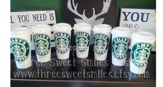 Starbucks Reusable Coffee Tumbler with Lid by ThreeSweetSmiles