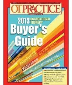 """2013 Occupational Therapy Buyer's Guide"" December 17, 2012"