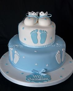 Christening and Baptism cakes Darlington Torta Baby Shower, Baby Shower Cakes For Boys, Baby Boy Cakes, Babyshower Cake Boy, Christening Cake Boy, Baby Boy Baptism, Baptism Cakes, Baptism Food, Baptism Party