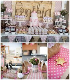Pink Vintage Cowgirl Birthday Party via Kara's Party Ideas | The place for all things PARTY! KarasPartyIdeas.com (3)