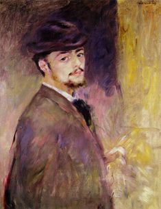 Self-Portrait at the Age of Thirty Five, 1876, Pierre-Auguste Renoir Medium: oil on canvas