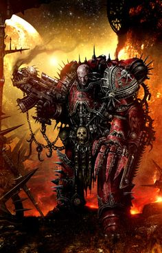 Warhammer 40k: Word Bearer Chaos Space Marine