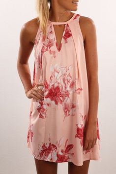 Floral halter dress. Great as a bathing suit cover up as well. So Cute!!! Stitch Fix Spring/summer fashion inspiration. Try best clothing subscription company. You can use these pins to help your stylist better understand your personal sense of style. Click on the picture to get started. #sponsored #StitchFix #outfits