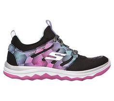 Skechers Kids' Diamond Runner Memory Foam Sneaker Pre/Grade School Shoes (Black)