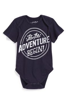 Let the adventure begin! Such a cute baby onesie.