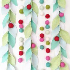 Leafy garlands will