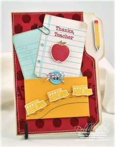 Thanks, Teacher Card by Debbie Olson for Papertrey Ink (July 2010)