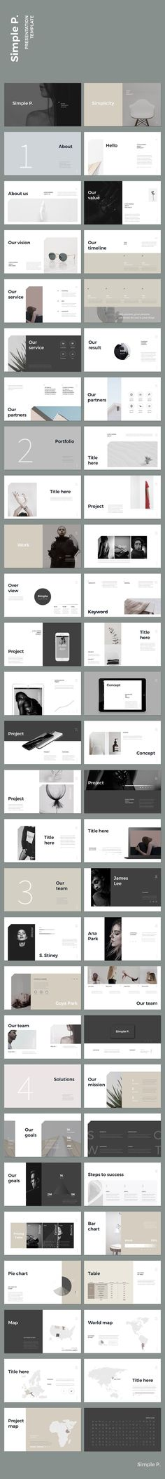 Simple & Minimal #keynote #presentation #simple #minimal #portfolio #business #marketing