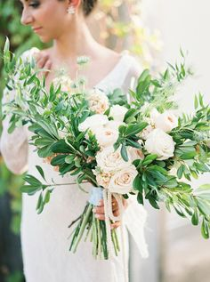 organic bouquet - photo by Tracy Enoch Photography http://ruffledblog.com/organic-bohemian-wedding-inspiration