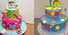 25 Pool Party Cakes That Make a Splash! You are in the right place about pool party for teens Here we offer you the most. Pool Birthday Cakes, Pool Party Cakes, Pool Cake, Luau Birthday, Birthday Ideas, Pool Parties, Girl 2nd Birthday, Cake Images, Cakes For Boys