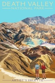 Artist's Palette - Death Valley National Park - Lantern Press Poster