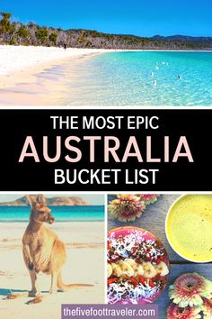 This ultimate Australia bucket list has 58 things to do in Australia. Plan your trip Down Under with these adventures, activities and must-dos in the best places to visit in Australia! Australia is such a big country, planning your trip can be daunting - so check out my absolute favorite things to do in Australia. #australia #australiatravel | What to do in Australia | Best things to do in Australia | Australia Bucket List |