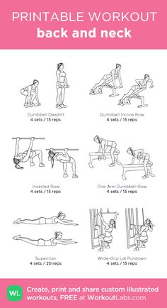 """back and neck: my custom printable workout by @WorkoutLabs <a class=""""pintag searchlink"""" data-query=""""%23workoutlabs"""" data-type=""""hashtag"""" href=""""/search/?q=%23workoutlabs&rs=hashtag"""" rel=""""nofollow"""" title=""""#workoutlabs search Pinterest"""">#workoutlabs</a> <a class=""""pintag searchlink"""" data-query=""""%23customworkout"""" data-type=""""hashtag"""" href=""""/search/?q=%23customworkout&rs=hashtag"""" rel=""""nofollow"""" title=""""#customworkout search Pinterest"""">#customworkout</a>"""